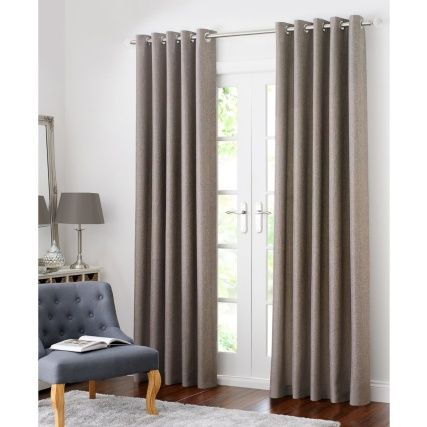 Colorado Hopsack Fully Lined Eyelet Curtain 90 X 90 Curtains Front Room Silver Curtains