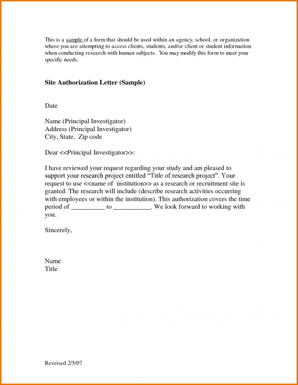 Letter Authorization Sample Scope Work Template Perform Word Amp