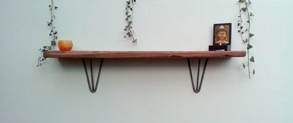 2 X Floating Hairpin Leg Shelf Brackets Various Sizes Discreet