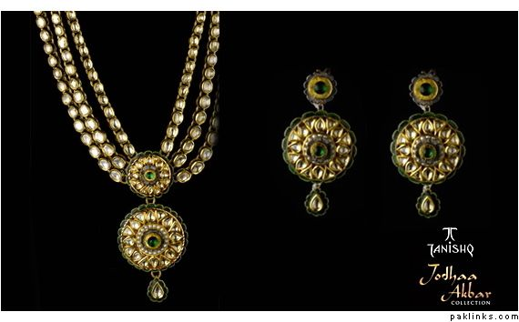 Tanishq Kundan Jewellery |     with rubies-emarald-diamonds