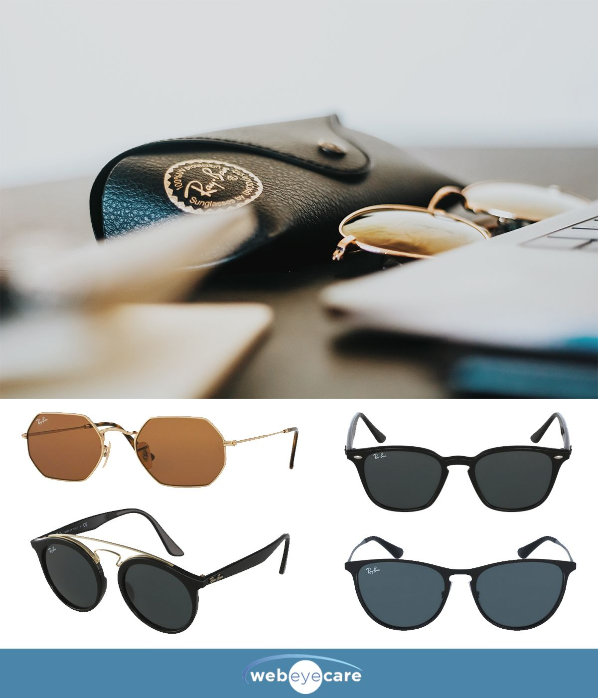 125ec66b378d Stylish Ray-Ban sunglasses for women at a discount price. Shop trendy  glasses from your favorite brands at WebEyeCare.com.