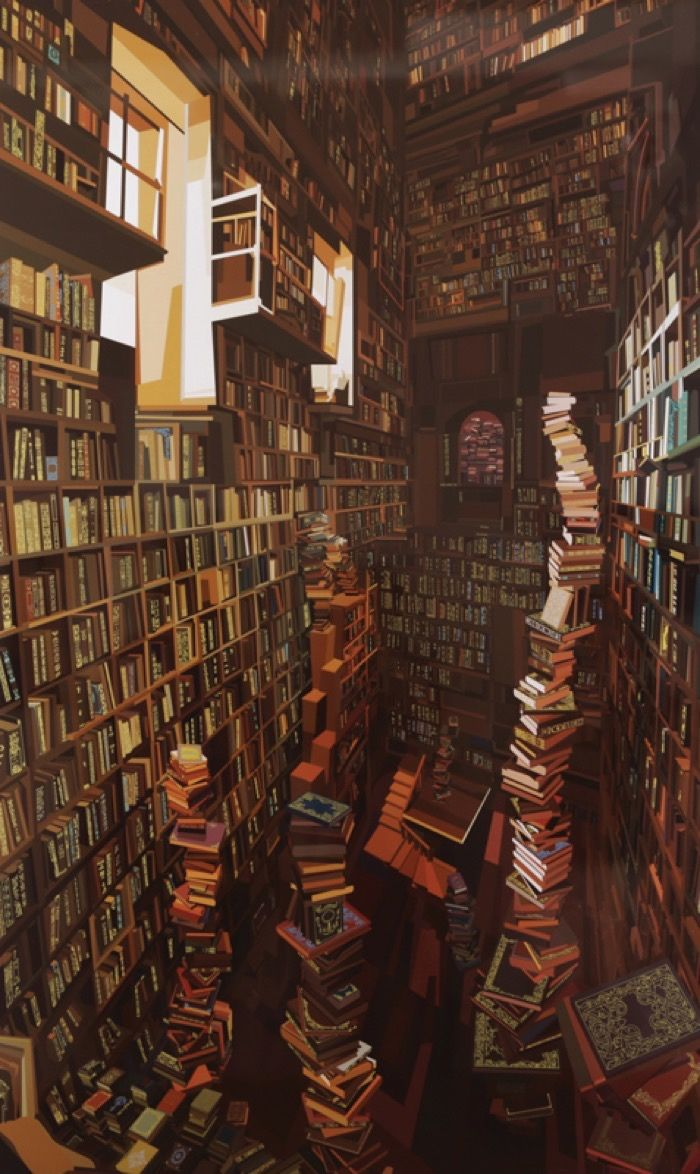 Impressively detailed book paintings by Pierpaolo