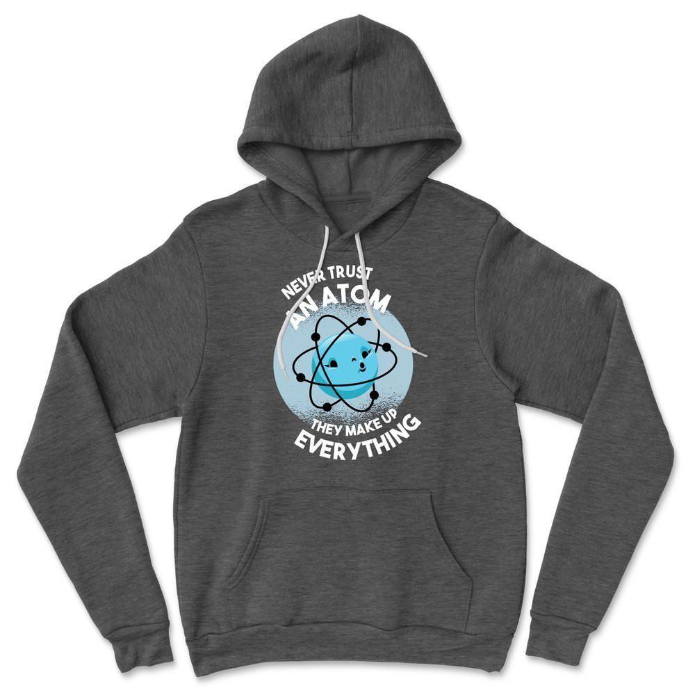 Vertraue niemals einem Atom, sie machen alles aus Hoodie – Dark Grey Heather / L.