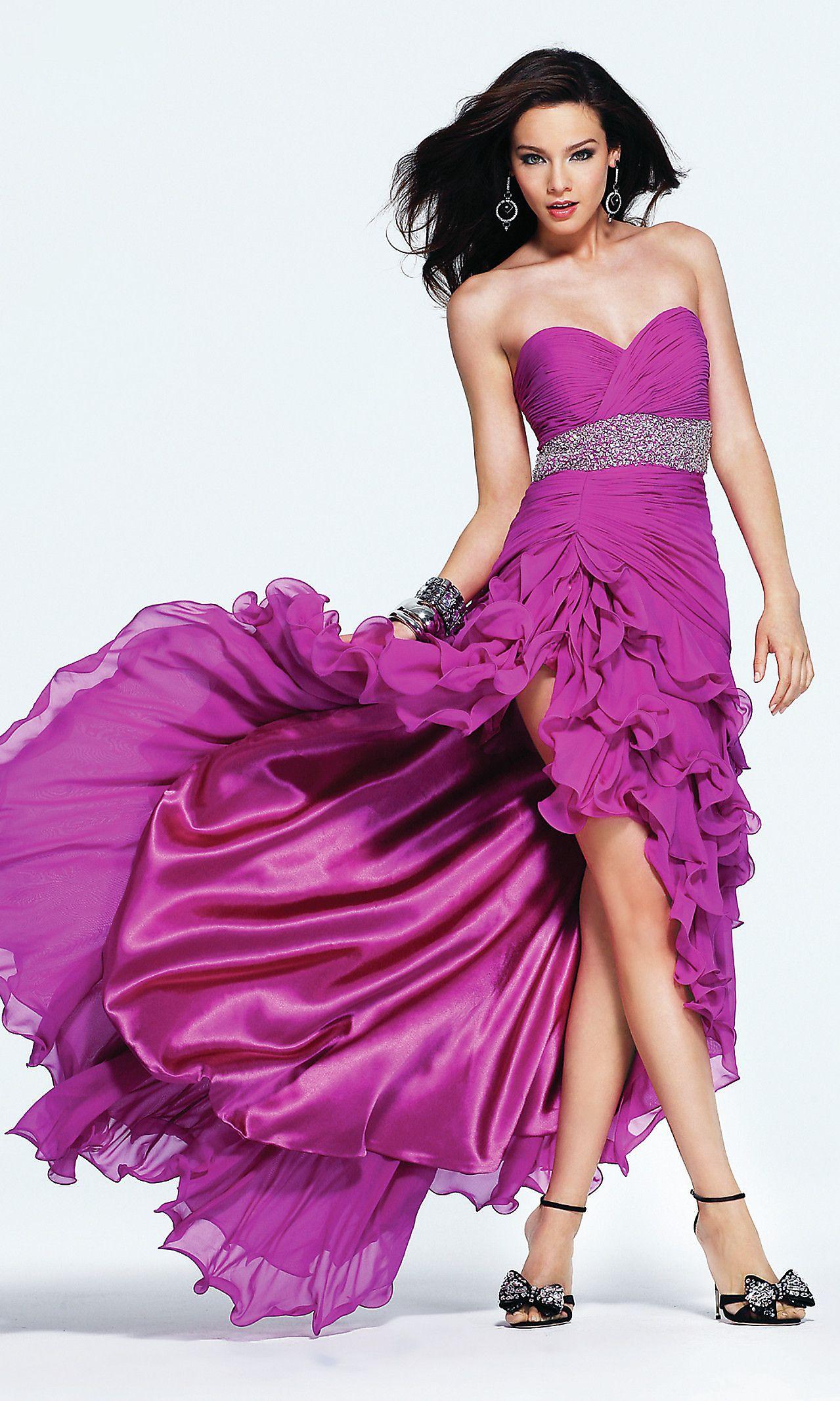 Fucsia chiffon dress (front) | Dresses | Pinterest | Fucsia, Modelo ...
