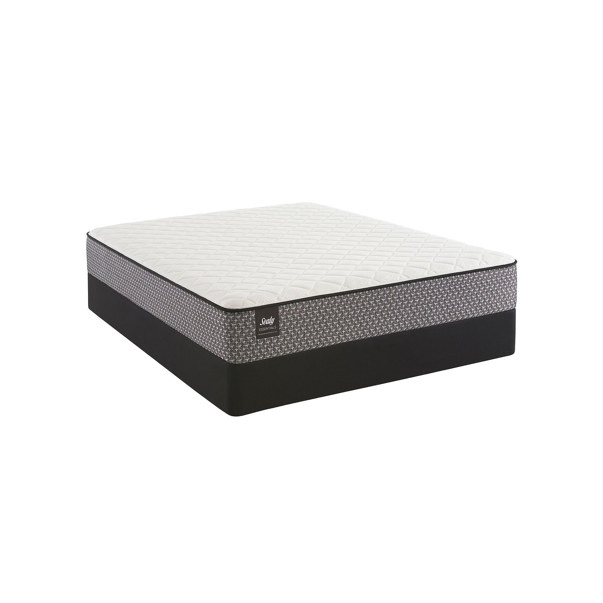 Sealy Essentials Butschle Firm Mattress Amp Box Spring Set White Plush Mattress Mattress Box