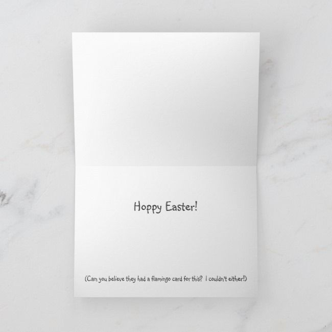 Pink Flamingo Happy Easter Funny Humor Card  funny cards Pink Flamingo Happy Easter Funny Humor Card