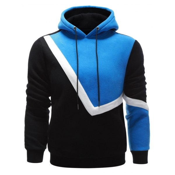 32.31$  Watch here - http://di5n5.justgood.pw/go.php?t=200773804 - Drawstring Contrast Paneled Pullover Hoodie