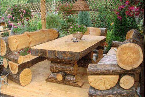 Tables De Jardin Originales Insolites, Rustic Outdoor Furniture