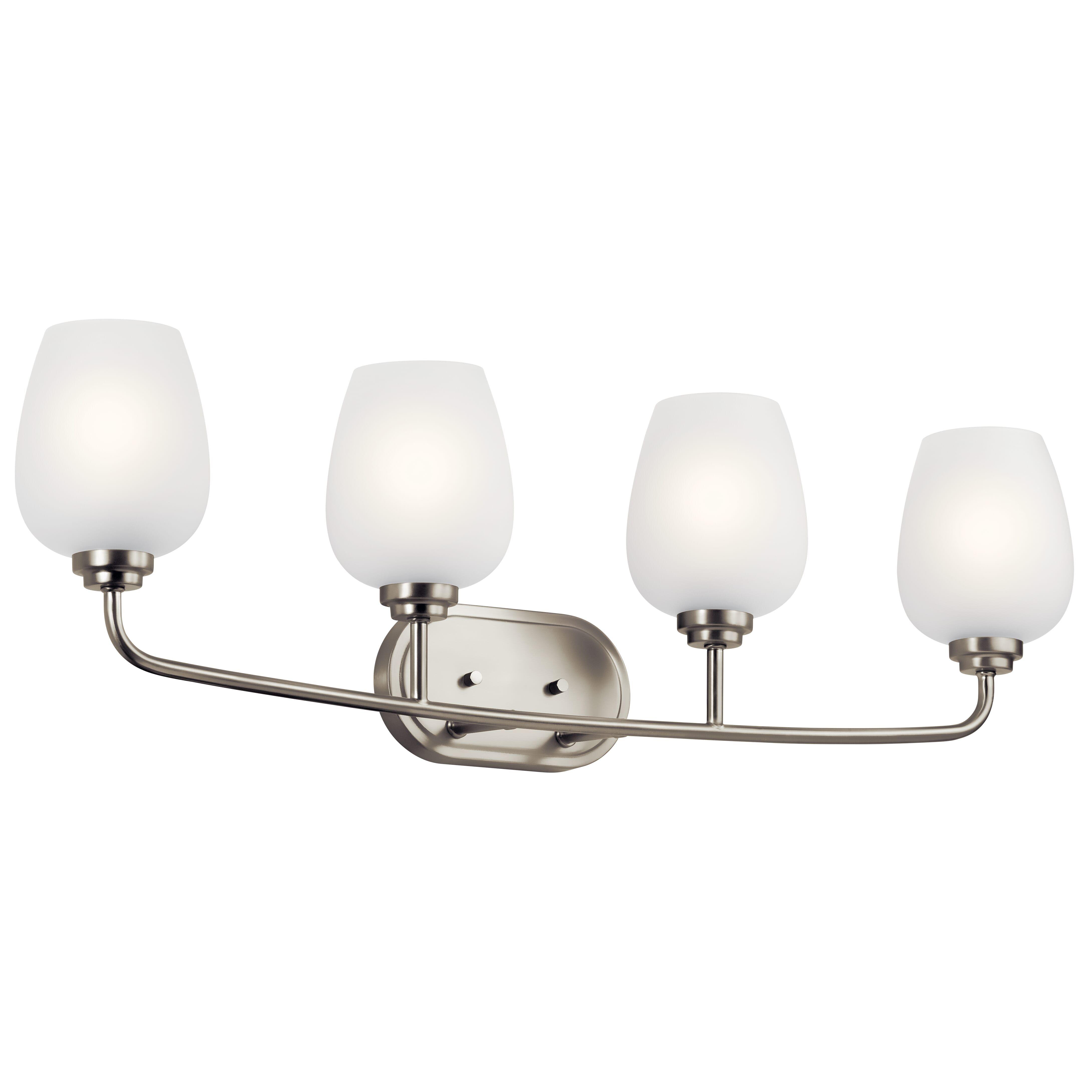 "Photo of Kichler Valserrano 4-Light 10 ""washstand lamp made of brushed nickel"