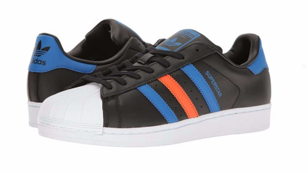 Men's Adidas Originals SUPERSTAR retro (CORE BLACK BLEU  BLUE