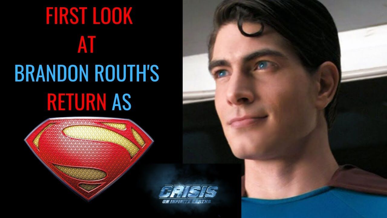 Brandon Routh As Superman First Photos Crisis On Infinite Earths Arro Brandon Routh Infinite Earths First Photo