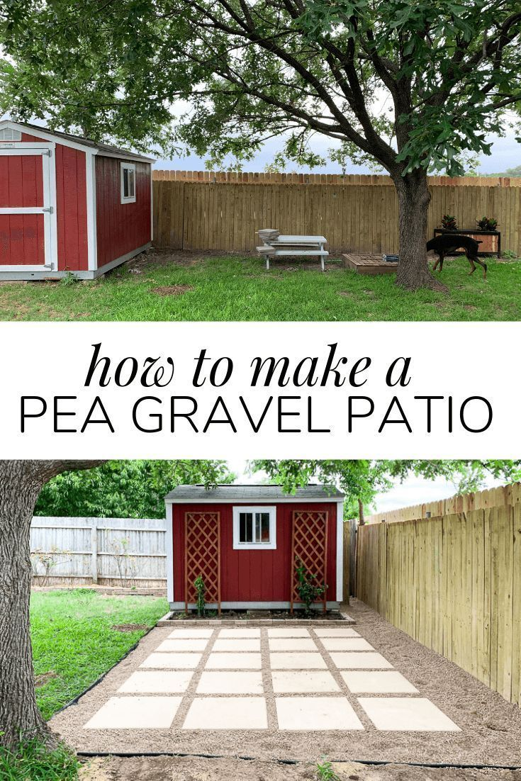 DIY Paver + Pea Gravel Patio – Love & Renovations