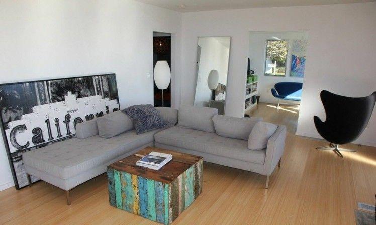 Couchtisch aus Palettenholz selber bauen Wohnideen Wohnzimmer