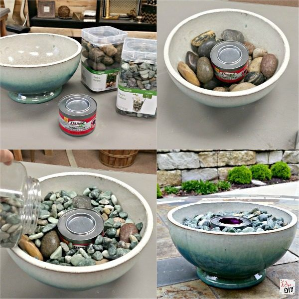How to Make 2 Table Top Fire Pit Bowls is part of  - Friend and Family gatherings are one of the best parts of life! Spice up your outside entertaining with these table top fire pit bowls  Easy DIY tutorial!