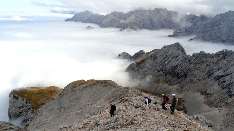 Klettersteig Near Munich : Alpspitze via ferrata klettersteig munich hiking