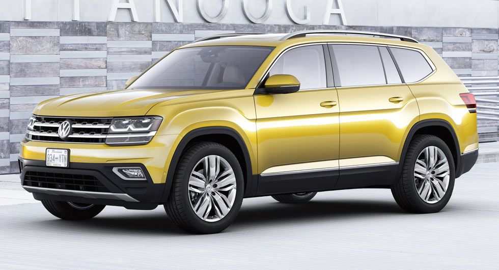 2018 Vw Atlas Is A Brand New Mid Size 7 Seater Suv