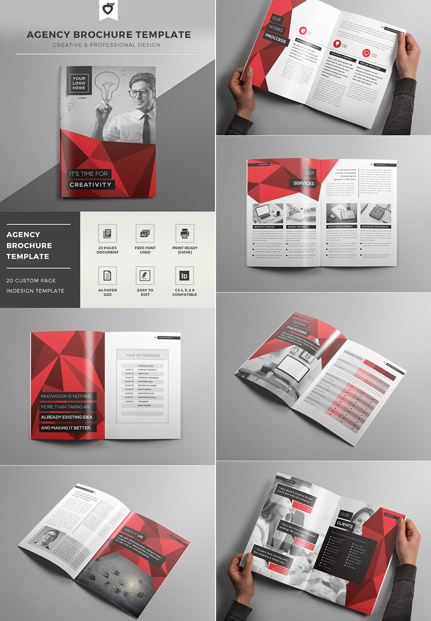Creative Agency Indesign Brochure Template Template Pinterest