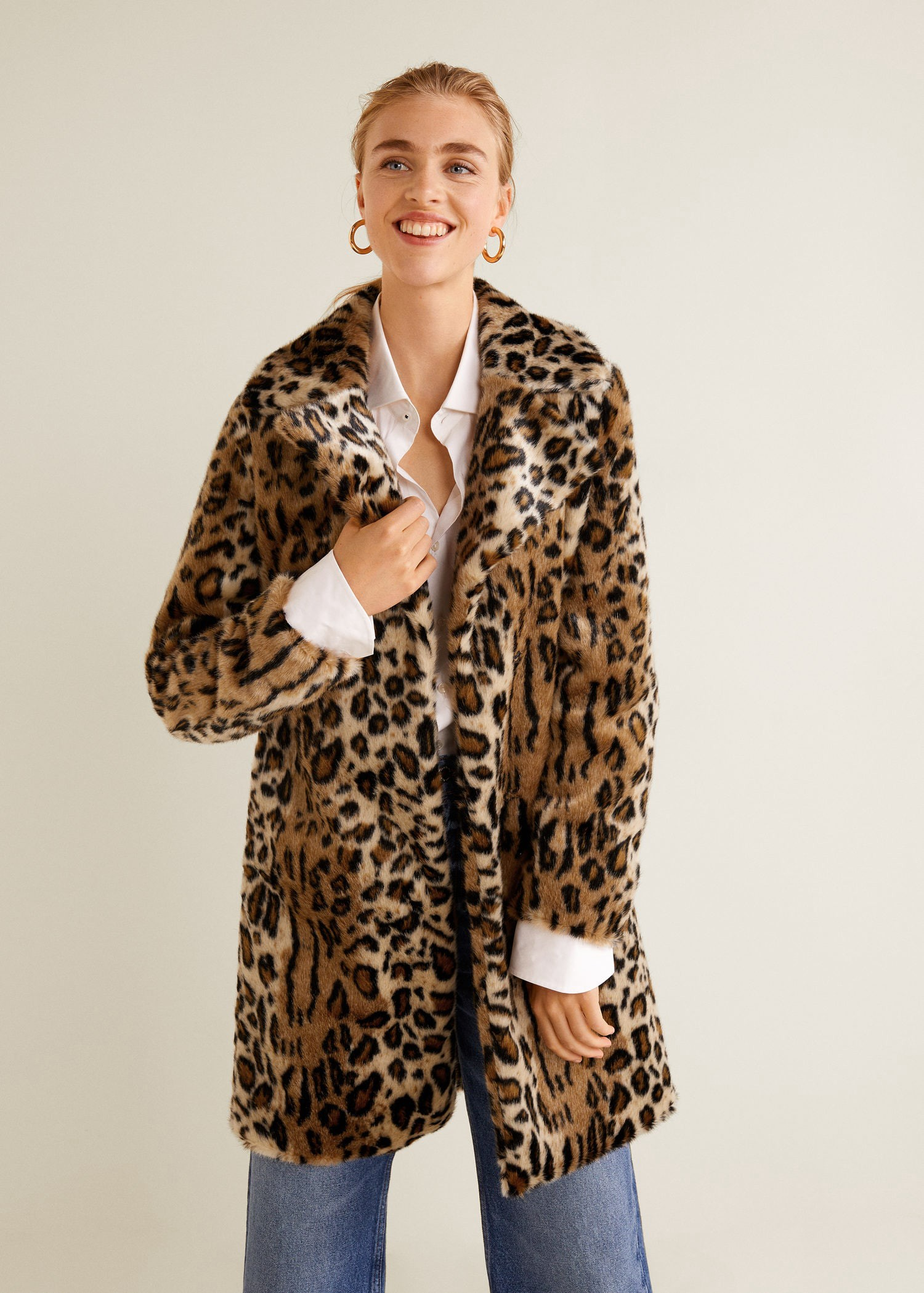 Mango Leopard Faux Fur Coat XXS | Products | Fur coat