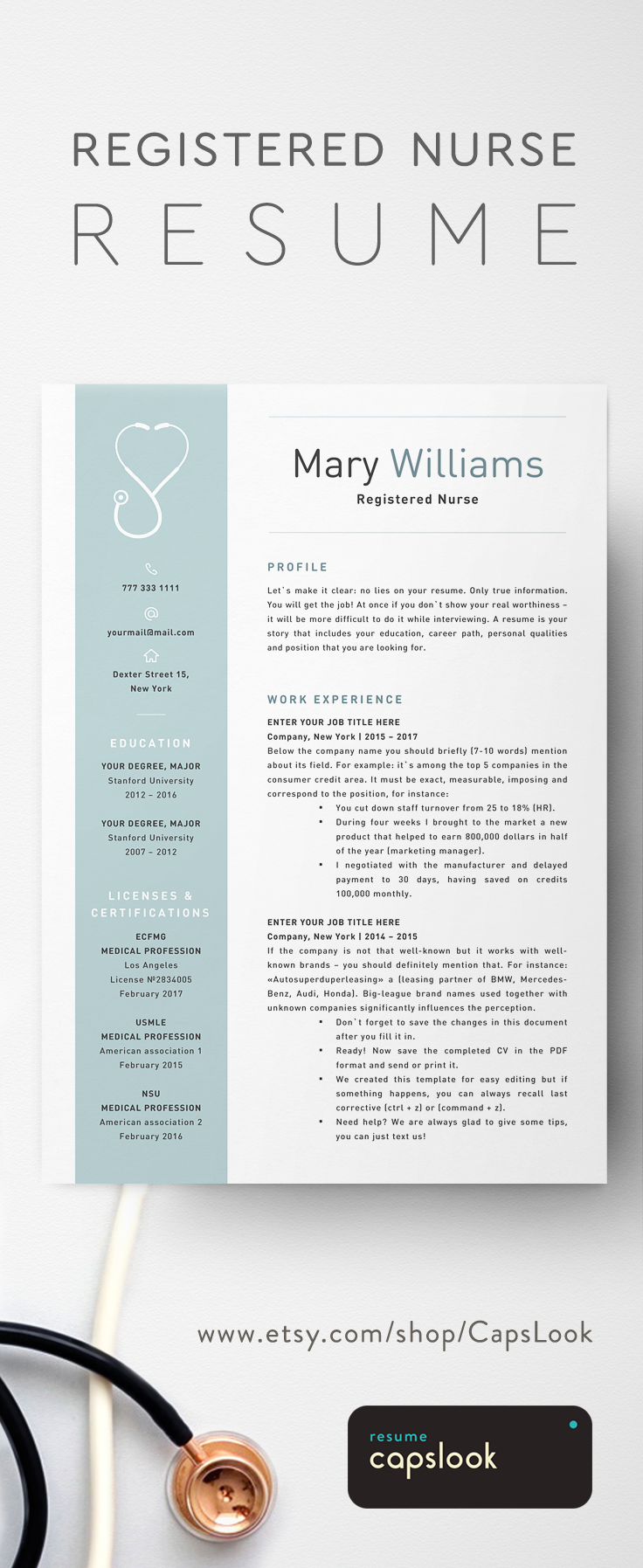 Resume For Registered Nurse Nurse Resume Template For Word  Medical Resume Word Nurse Cv .