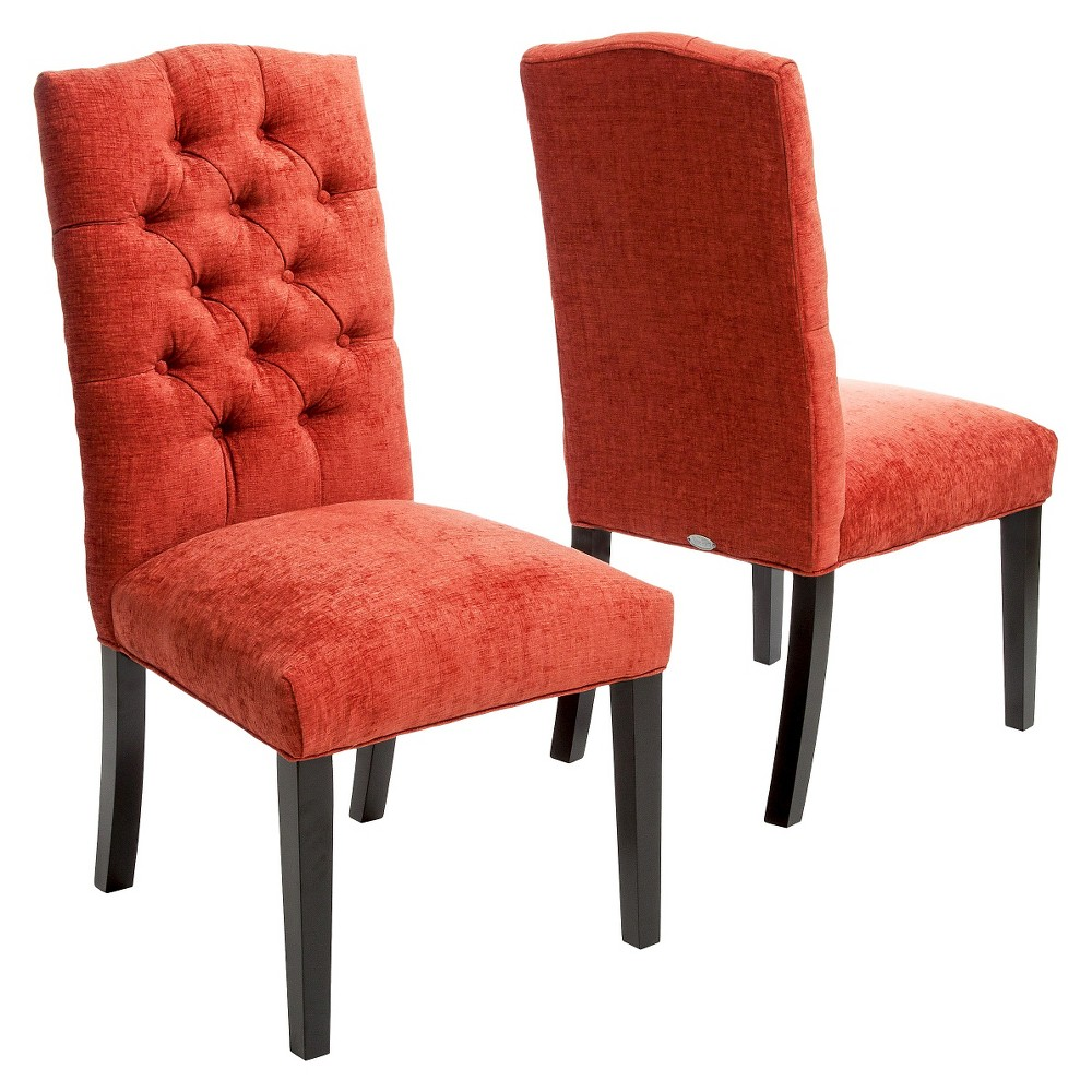 Burnt Orange Dining Room: Crown Top Dining Chairs