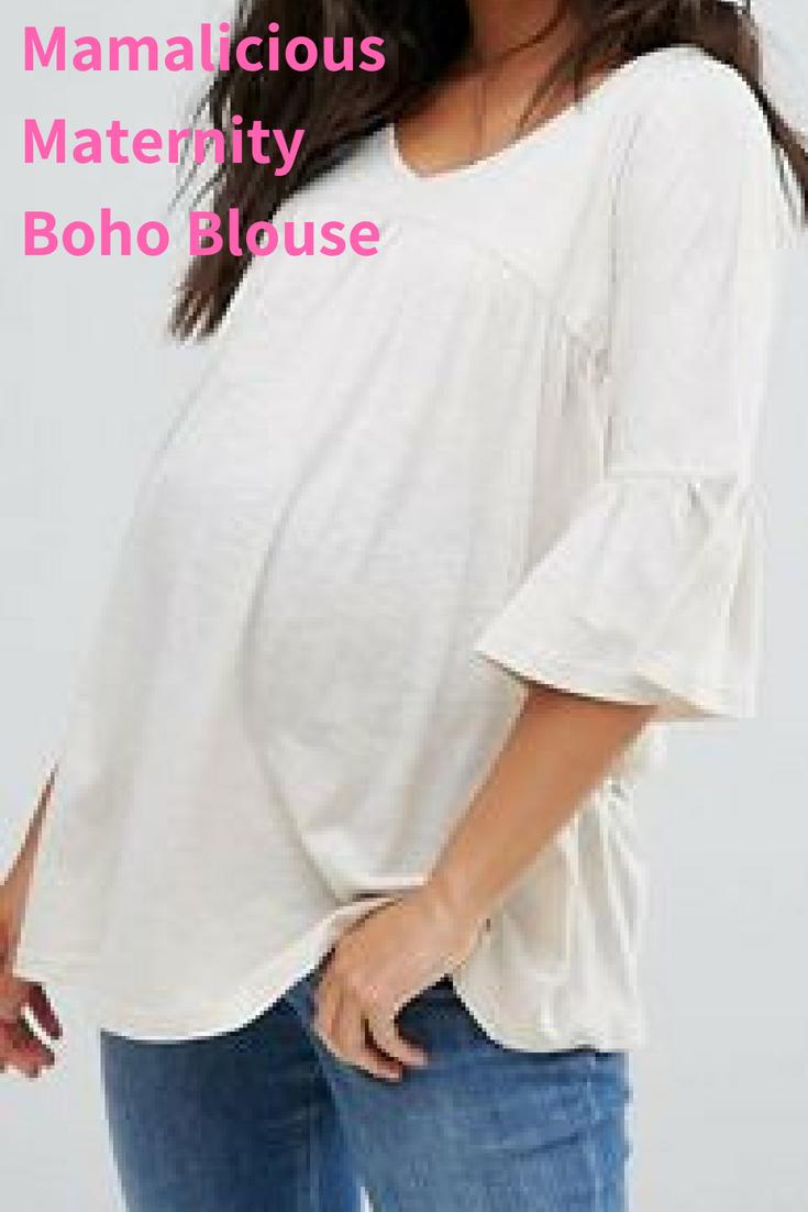 d92b11c8e9 Love the comfy look of this Mamalicious Boho Blouse!  ad  boho  maternity   shopstyle