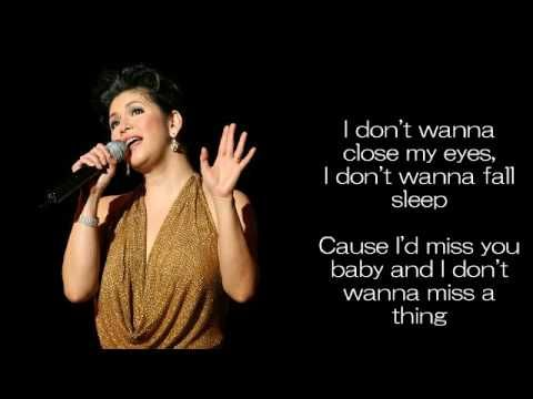 I Don T Wanna Miss A Thing Regine Velasquez With Images How