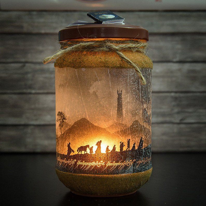 Lord of the Rings Candle Lord of the Rings Decor Lord of ...