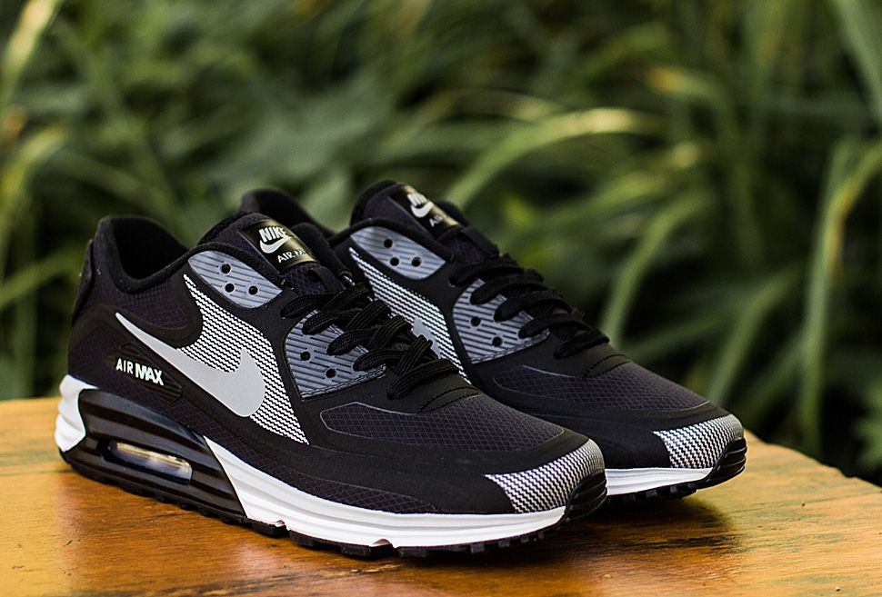 Nike Air Max Lunar90 Wr Black Silver Eu Kicks Sneaker Magazine Zapatillas Zapatos Tenis