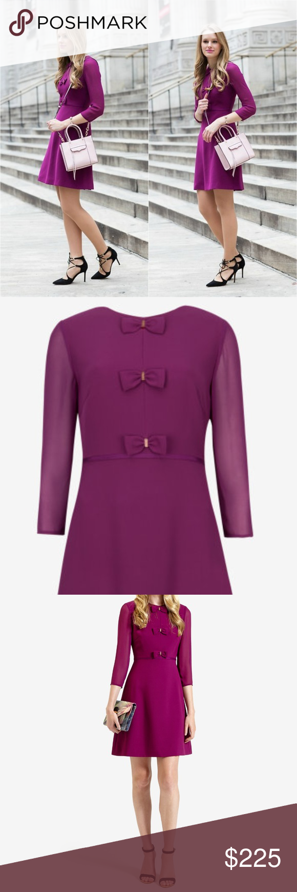 Ted Baker Bow Detail Dress Quot Finna Quot Bow Detail Dress