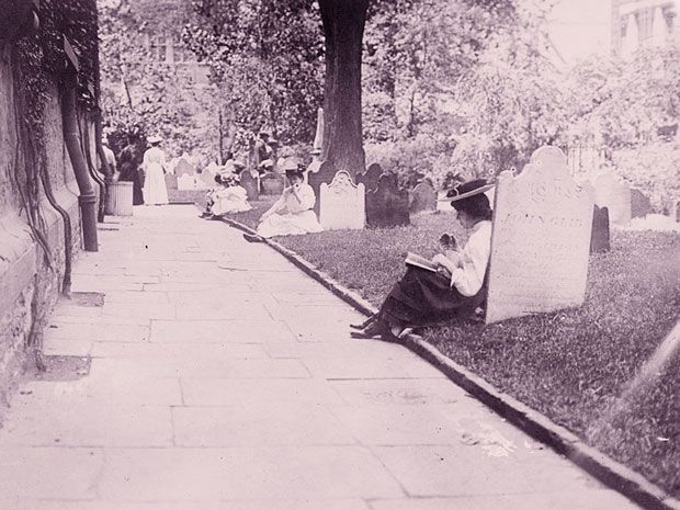 While today it might seem morbid, cemeteries were once intended as public parks, where the living could enjoy a pleasant day alongside the dead.
