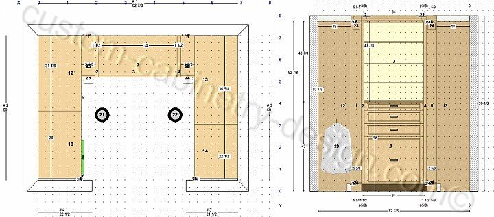 Cabinet Plans, Closet Cabinets Drawings