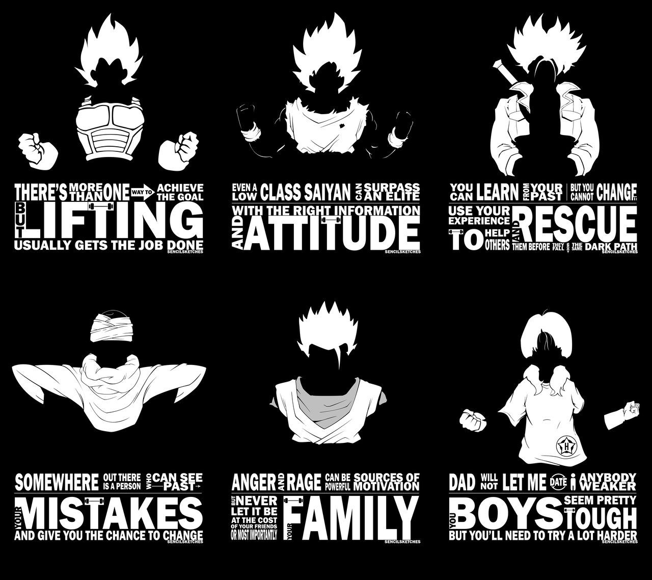 Dragonball Z Motivational Typography By Sencilsketches Geek