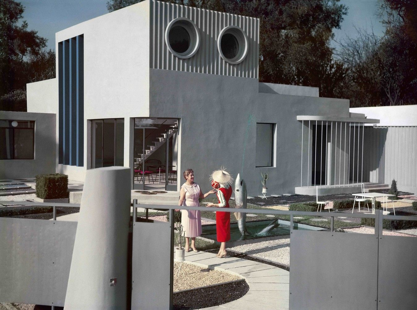 Tel Aviv Museum Of Art Examines The International Circulation Of Prefab Concrete Panels,Still from film Mon Oncle, 1958, director Jacques Tati. © Les Films de Mon oncle – Specta Films CEPEC in Modernity, Promise or Menace?, 2014. A film by Teri Wehn Damisch and Jean-Louis Cohen. Image Courtesy of Tel Aviv Museum of Art