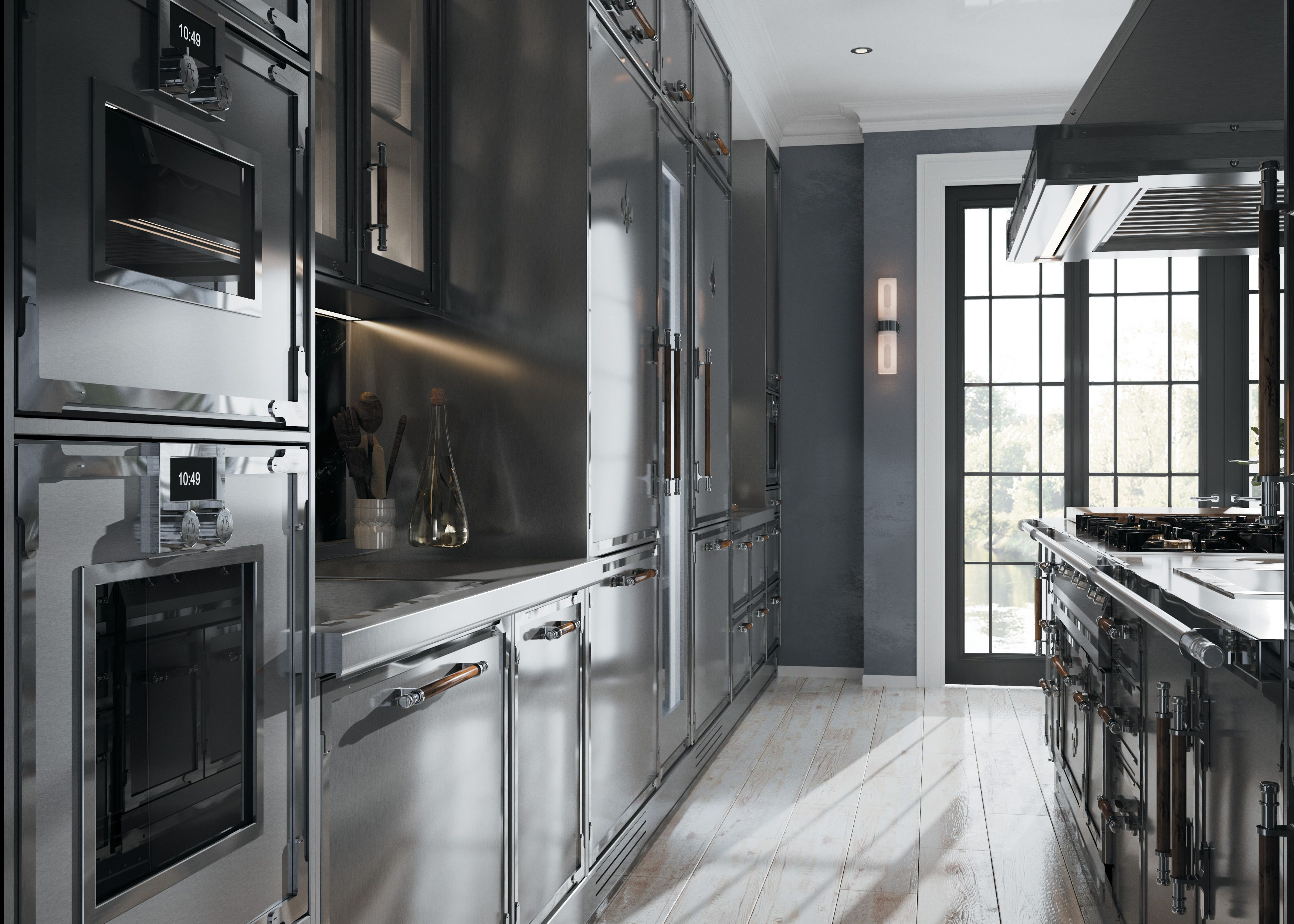 Custom Parisian Inspired Kitchens L Atelier Paris In 2020 Modern Metal Kitchen Kitchen Inspiration Design Metal Kitchen Cabinets