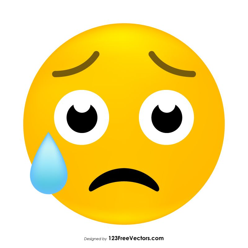 Disappointed But Relieved Face Emoji Graphics Graphic Emoji Free Vector Art