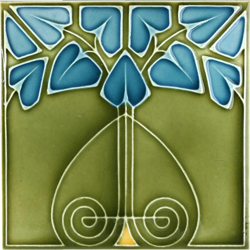 C 1900 Servais German Art Nouveau Tile In 2019 Art