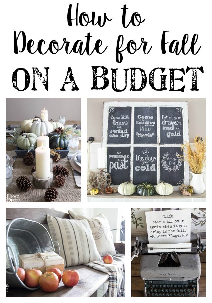 How to Decorate for Fall on a Budget  Decorating on a budget