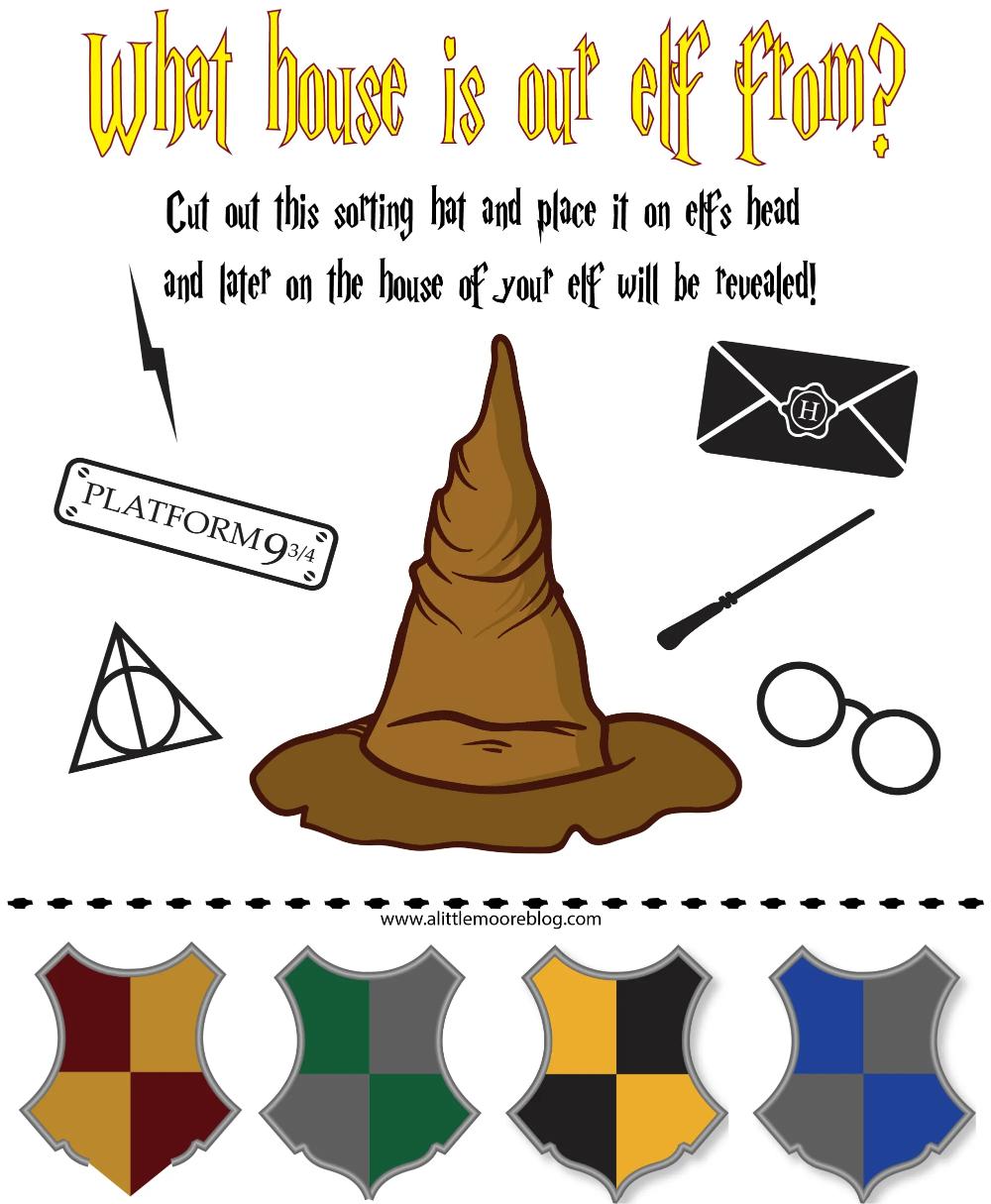 Elf On The Shelf Harry Potter Sorting Hat Free Printable Harry Potter Sorting Hat Harry Potter Sorting Harry Potter Elf