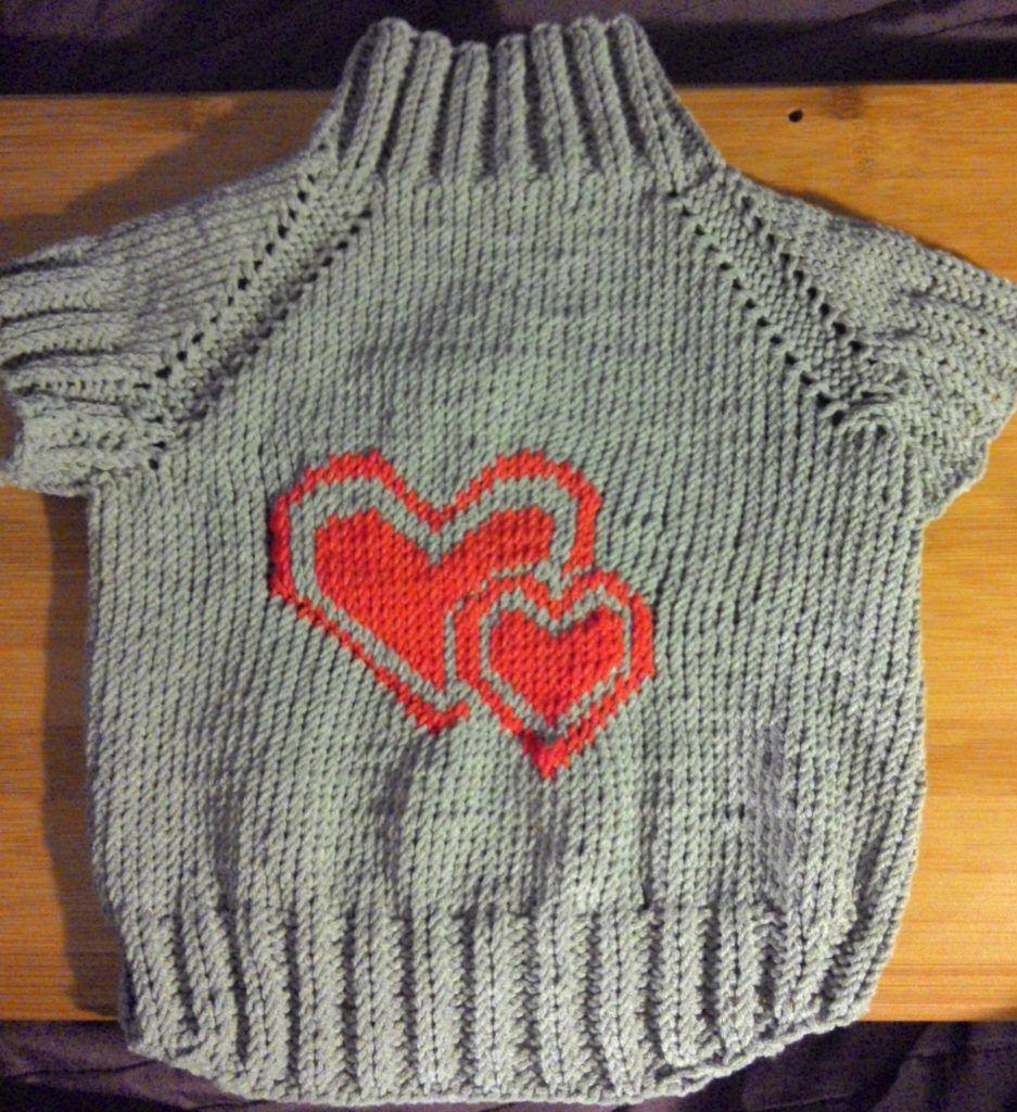 свитер с лошадью схема спицами