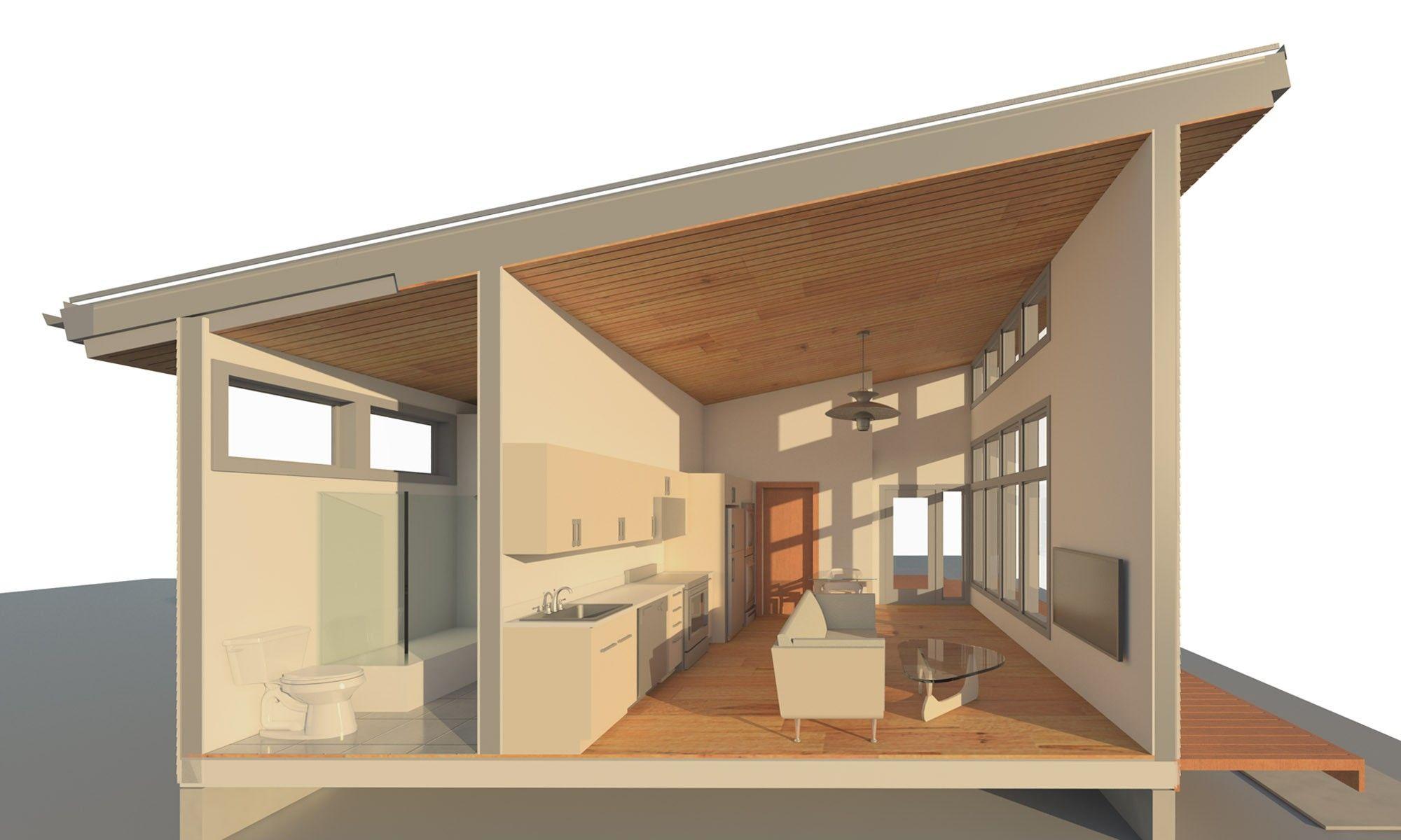 Portland ADU Accessory Dwelling Unit by Propel Studio - Floor plan ...