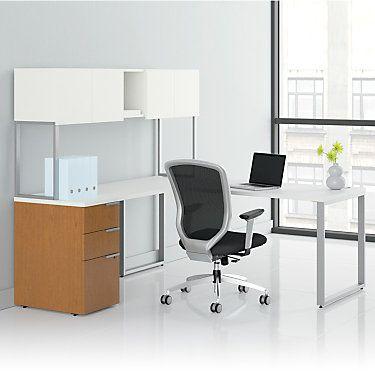 Voi L Shaped Desk With Upper Storage By Hon Smart