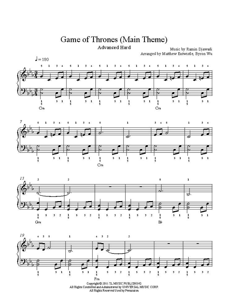 Print and download Game of Thrones Main Theme by Ramin Djawadi piano sheet music. Arranged by David Sides for Advanced level pianists. Includes interactive sheet music.