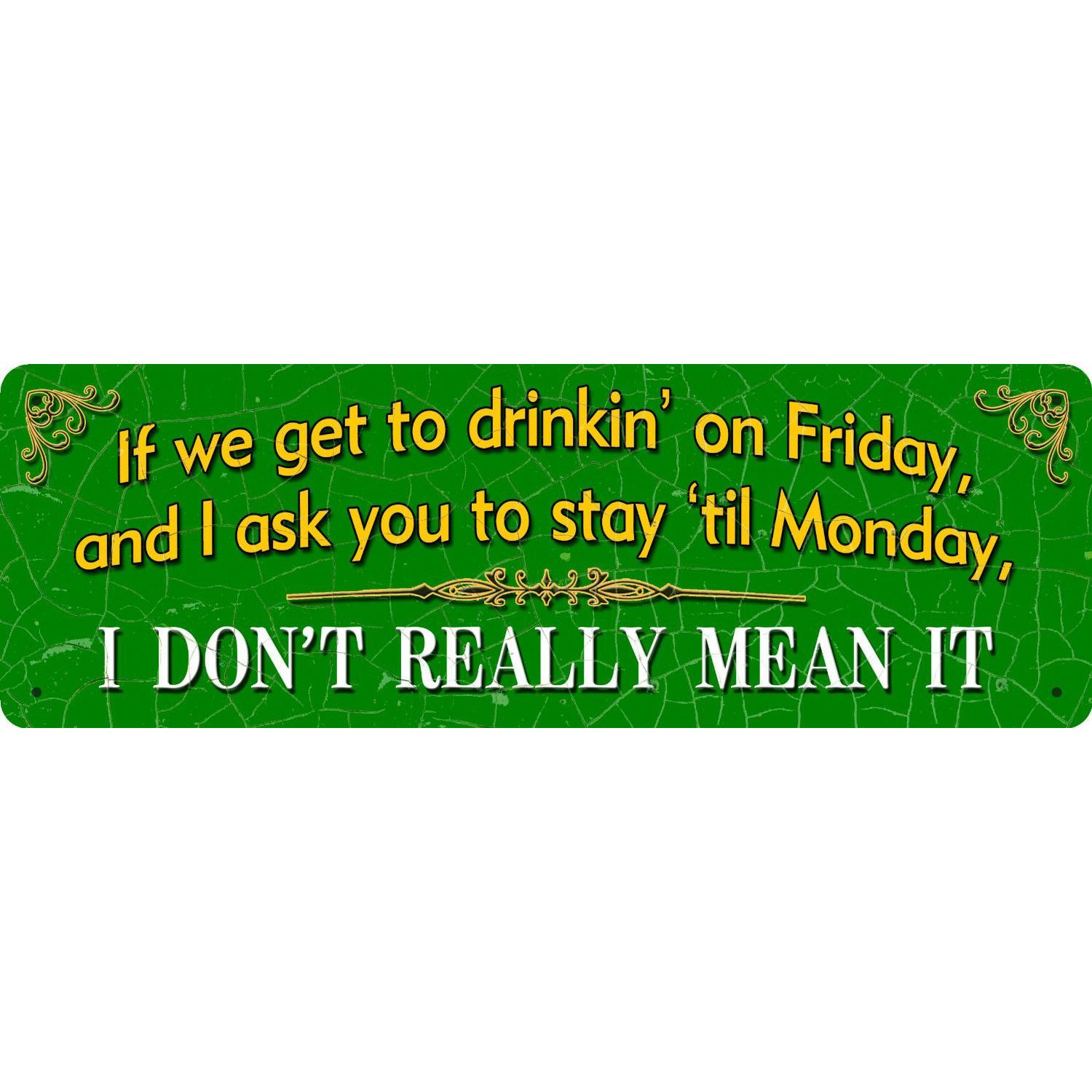 If We Get To Drinkin' Tin Sign Wall Art (Set of 3)