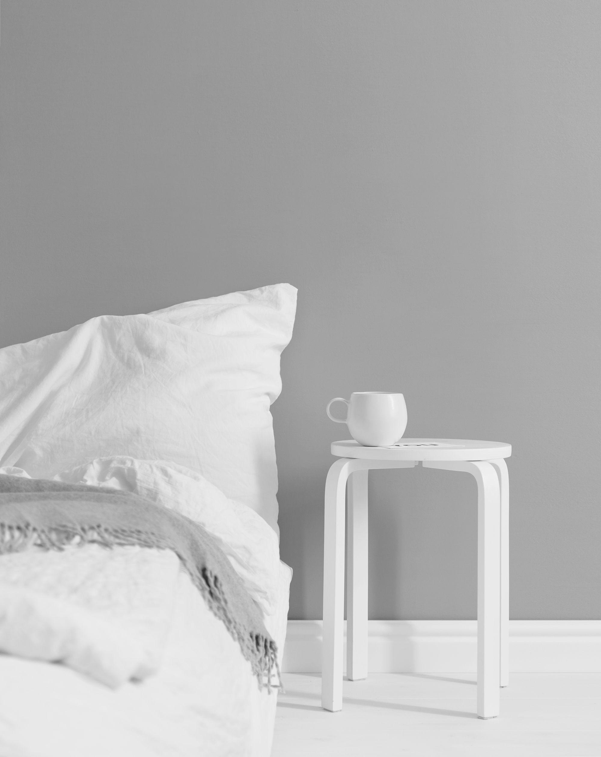 All white minimal bedroom