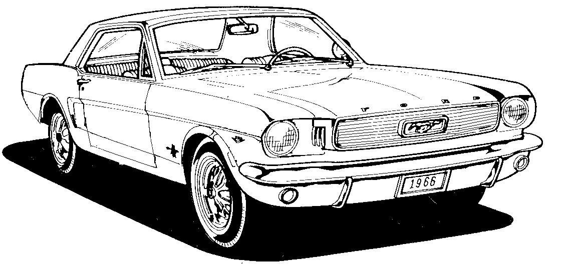 Classic Mustang Clipart Classic mustang, Mustang drawing