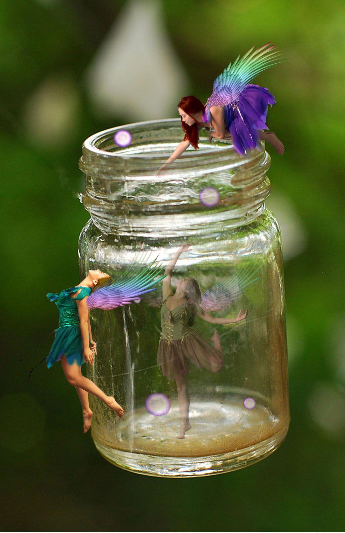 Fairy jar | Fairy | Pinterest  Fairy jar | Fai...
