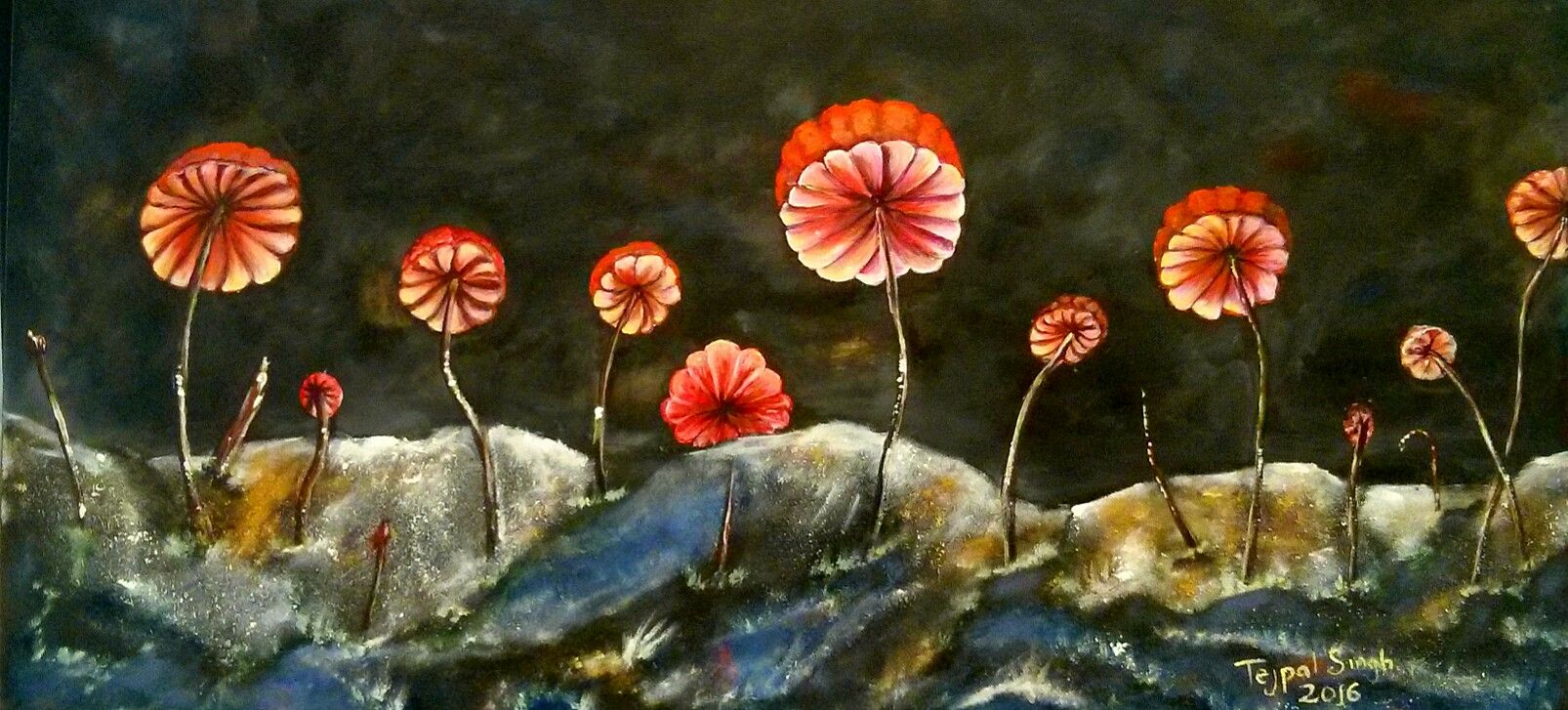 Pin on Nature Paintings by Tejpal Mann TSM Gallery Delta