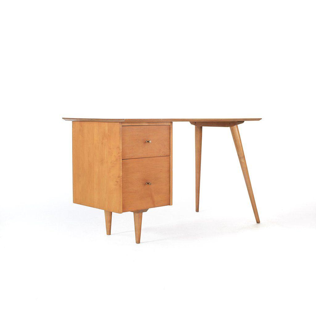 Mid Century Modern Paul McCobb Solid Maple Desk