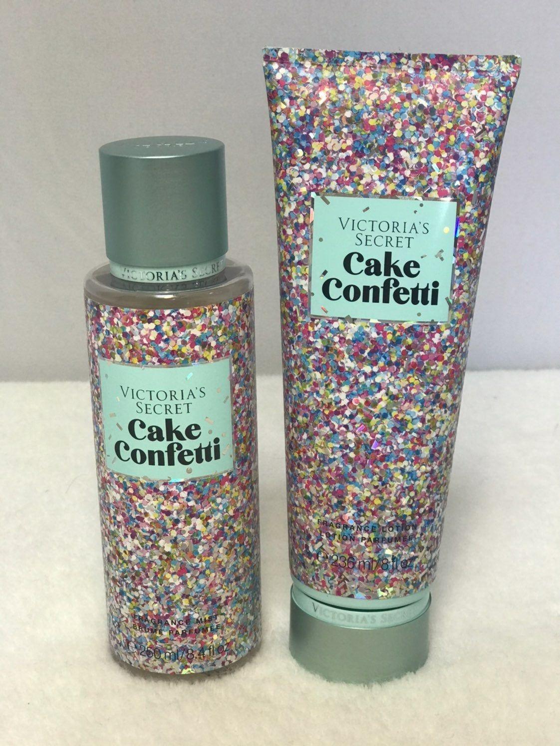 Victoria S Secret Cake Confetti Mist Lotion 2 Pcs Set Lotion 236ml 8 Fl Oz Mist Victoria S Secret Perfume Victoria Secret Perfume Victoria Secret Cake