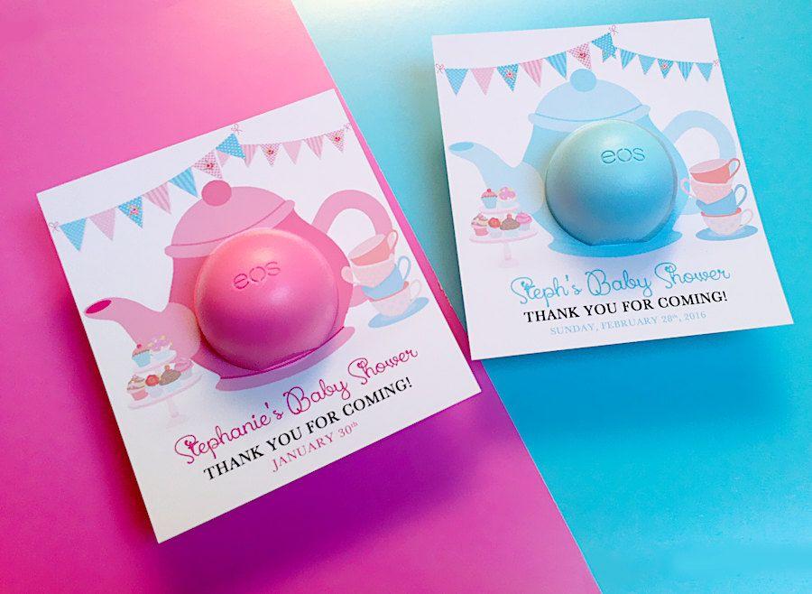 Baby Shower Decor Printables ~ Tea party baby shower eos balm favors teapot template tea party